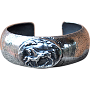 Silver Cuff with Fine Silver Horses