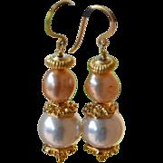 SOLD Pearl Earrings