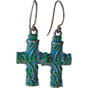 SOLD Chimayo Small Cross Earrings