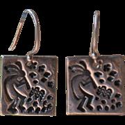 SOLD Kokopelli Silver Earrings
