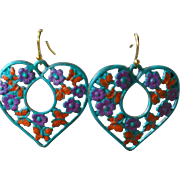 SALE Chimayo Hand-Patinaed Butterfly Earrings