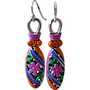 SOLD Chimayo Flower Drop Earrings
