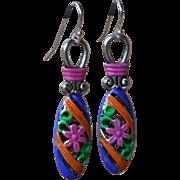 SOLD Chimayo Flower Drop Earrings - Red Tag Sale Item