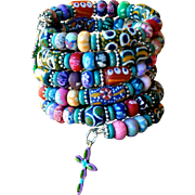 Shabby Chic Wrap your Wrist Around this: Krobo Bracelet