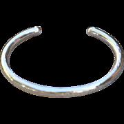 Fine Silver Hammered Bangle