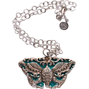 "Nepalese Repousse Butterfly ""dragon"" Pendant"
