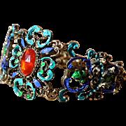 Shimmering Bronze Bracelet with BLING!