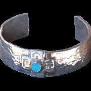 Fine Silver & Sleeping Beauty Turquoise Bracelet