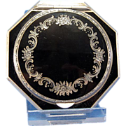 Vintage Sterling and Enamel Deco Compact
