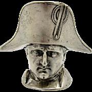 Antique Silver Napoleon Head and Hat Silver Box, AMAZING!