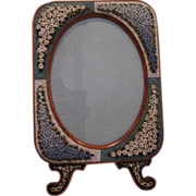 Antique HUGE Micro Mosaic Picture Frame AWESOME Condition!