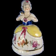 Vintage Goebel Figural Perfume Scent Bottle, Lady in Dress with  Fan