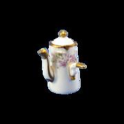 Vintage Limoges Elite Works, Miniature Chocolate Pot, France, GREAT MINIATURE