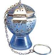 SOLD Vintage Sterling Blackinton Angular Teaball Tea Ball Tea Strainer