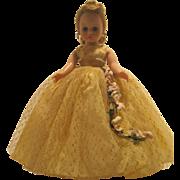 Madame Alexander Blonde Updo Cissette #732 Flower Spray Gown - 1961