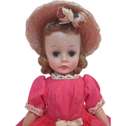 Madame Alexander Tosca Cissette #810 Coral Variation Cotton Dress - 1958