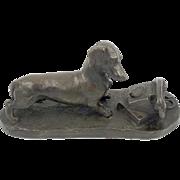 SOLD Heredities Bronze Dachshund with Telephone