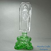 Czech Figural Lady Stopper Perfume Bottle