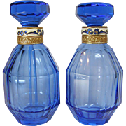 Austrian Pair of Perfume Bottles 1920-30s