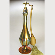 Steuben Gold Aurene Mignon Perfume Atomizer Late 1920s
