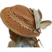 Straw Hat for Small Doll or Large Fashion
