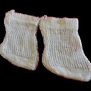White Jumeau Socks
