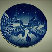 Bareuther Bavaria Germany Plate Christmas Market ~ 1969
