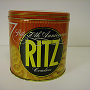 Collectible Tin ~ Ritz Crackers ~ 50th Anniversary