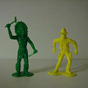 SOLD Tim-Mee Toys ~ Cowboy & Indian ~ 1960's