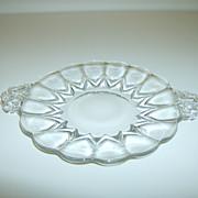 Mosser Glass Cake Plate ~ Nicole Pattern