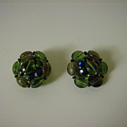 West Germany ~ Earrings ~ Hand Beaded