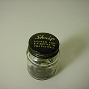 Skrip Glass Ink Bottle by Sheaffer's ~ 1950's