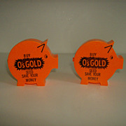 Piggy Bank ~ O's Gold Seed ~ Advertising ~ 1960's