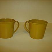 Genuine Melamine ~ Coffee Cups ~ 1950's