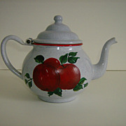Enamelware Grey Speckled Teapot