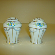 Nippon Hand  Painted Salt & Pepper Shakers