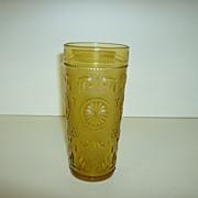Amber Glass Tumbler ~ Brockway Glass Co.  ~ American Concord