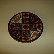 Allpa Peruvian  Plate Hand Painted Wall Plate