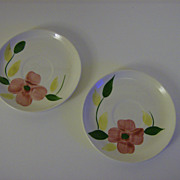 Hand Painted Blue Ridge Pottery Saucers