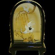 Chinese Cork Art Egrets