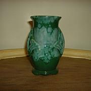 Blue Green Drip Glaze Pottery Vase