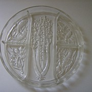 Indiana Glass Divided Relish Tray Intaglio