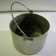 Aluminum Berry Bucket ~ Bail Handle ~ 1950's
