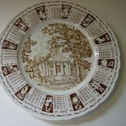 Royal Staffordshire 1965 Zodiac Calendar Plate