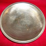Hammered Brass Pedestal Fruit Bowl ~ Made in India