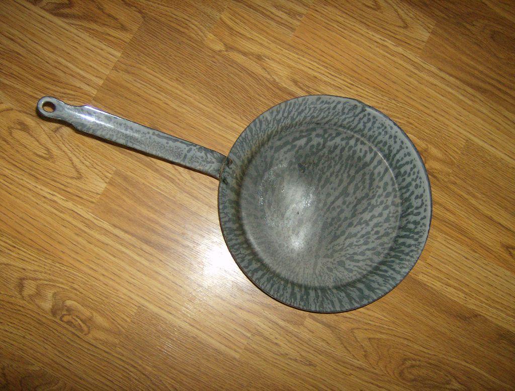 Granite Ware Frying Pan Skillet Gray Mottled From