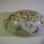 Avon Butterfly Fantasy Porcelain Treasure Egg ~ 1979