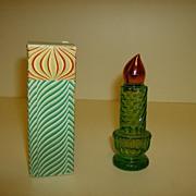 Avon Candle Cologne Bottle