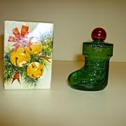 Avon Christmas Stocking Cologne Bottle