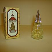 Avon Christmas Tree Cologne Bottle